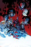 All-New X-Men 11 Cover: Magik, Cyclops, Frost, Emma, Angel, Magneto, Grey, Jean, Iceman, Beast Wall Decal by Stuart Immonen