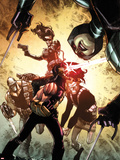 Age of Apocalypse No.2 Cover: Cyclops and Others Plastic Sign by Humberto Ramos