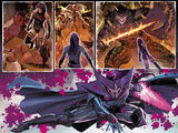Uncanny X-Force No.8: Panels with Psylocke and Telekinetic Katana Plastic Sign by Billy Tan