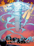 Uncanny X-Men No.10 Cover: Unit Flying and Transforming Plastic Sign by Adam Kubert