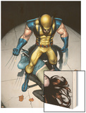 The Pulse N9 Cover: Wolverine, Jones and Jessica Wood Print by Michael Lark