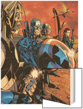 Ultimate War No.3 Group: Thor and Captain America Wood Print by Chris Bachalo