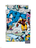 X-Men No.1 Group: Beast, Wolverine and Psylocke Plastic Sign by Jim Lee