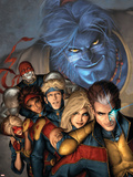 Genext: United No.1 Cover: Beast, No-Name, Rico, Raven, Olivier, Rasputin, Pavel, Munroe and Becka Wall Decal by Alex Garner