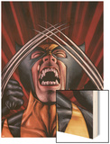 X-Men Origins: Wolverine No.1 Cover: Wolverine Wood Print by Mark Texeira