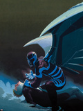 Uncanny X-Force No.10 Cover: Archangel Crouching Plastic Sign by Esad Ribic