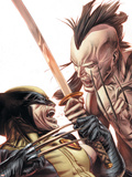 Wolverine Origins No.35 Cover: Wolverine and Daken Plastic Sign by Doug Braithwaite