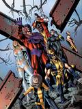 Uncanny X-Men No.534.1 Cover: Shadowcat, Wolverine, Magneto, Cyclops, Colossus, Namor, & Emma Frost Prints by Carlos Pacheco