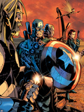 Ultimate War No.3 Group: Thor and Captain America Plastic Sign by Chris Bachalo