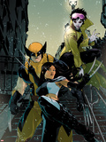 X-23 No.11 Cover: X-23, Wolverine, Jubilee Wall Decal by Kalman Andrasofszky
