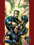 Ultimate X-Men No.47 Cover: Wolverine and Colossus Plastic Sign by Brandon Peterson