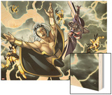 X-Men No.13: Magneto Flying Wood Print by Dalibor Talajic