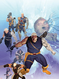 X-Men: Future History - The Messiah War Sourcebook Cover: Cable and Wolverine Plastikskilte af Ariel Olivetti