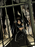 Daken: Dark Wolverine No.9 Cover: X-23 Crouching Plastic Sign by Giuseppe Camuncoli