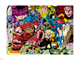 X-Men No.1 Pin-up Group: A Villains Gallery Plastic Sign by Jim Lee