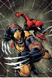 Savage Wolverine 6 Cover: Spider-Man, Wolverine Plastikschild von Joe Madureira