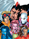 Exiles No.1 Cover: Blink, Morph, Thunderbird, Mimic, Magnus and Nocturne Plastic Sign by Mike McKone