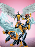 X-Men: First Class No.11 Cover: Cyclops, Beast, Angel, Iceman and Marvel Girl Plastic Sign by Carlo Pagulayan