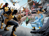 X-Men Giant-Size No.1: Cyclops, Marvel Girl, Angel, Quicksilver, Iceman, Beast and Others Wall Decal by Paco Medina
