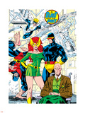 X-Men No.1 Pin-up Group: Blast From The Past, Original X-Men Wall Decal by Jim Lee