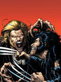 Wolverine No.15 Cover: Wolverine and Sabretooth Plastic Sign by Darick Robertson