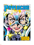 The Uncanny X-Men No.213 Headshot: Psylocke and Cerebro Plastic Sign by Alan Davis