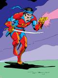 Classic X-Men No.15 Cover: Corsair Fighting Plastic Sign by John Bolton