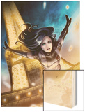 X-23 No.12: X-23 Jumping from the Eiffel Tower Wood Print by Sana Takeda