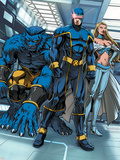 Cable & Deadpool No.6 Group: Cyclops, Beast and Emma Frost Plastic Sign by Patrick Zircher
