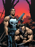 Wolverine Punisher No.2 Cover: Wolverine and Punisher Plastic Sign by Gary Frank