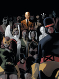 X-Men: Legacy No.225 Cover: Cyclops, Marvel Girl, Beast, Angel, Storm and Professor X Plastic Sign by Daniel Acuna