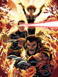 Ultimatum: X-Men Requiem No.1 Cover: Wolverine, Cyclops, Grey and Jean Plastic Sign by Mark Brooks