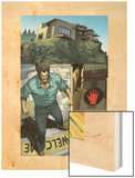 Wolverine No.10: Panlels with Logan Approaching a Settlement Wood Print by Renato Guedes