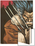 Weapon X: Days Of Future Now No.1 Cover: Wolverine Wood Print by Bart Sears