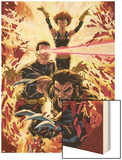 Ultimatum: X-Men Requiem No.1 Cover: Wolverine, Cyclops, Grey and Jean Wood Print by Mark Brooks