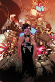 X-Men 2 Cover: Pryde, Kitty, Jubilee, Psylocke, Storm, Rogue, Summers, Rachel, Shogo Plastic Sign by Olivier Coipel