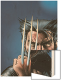 Wizard No.149 Cover: Wolverine and Logan Wood Print by Brian Bolland