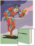 Classic X-Men No.15 Cover: Corsair Fighting Wood Print by John Bolton