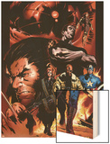 Ultimate Nightmare No.1 Cover: Nick Fury, Captain America, Wolverine and Colossus Wood Print by Trevor Hairsine