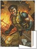 Wolverine No.304 Cover: Wolverine Standing Wood Print by Dale Keown