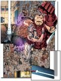 Iron Age No.3: Iron Man and Dazzler Flying Print by Todd Nauck
