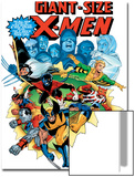 Giant-Size X-Men No.3 Cover: Wolverine, Cyclops, Nightcrawler and Sunfire Charging Reprodukcje autor Dave Cockrum
