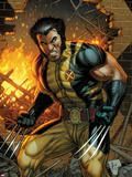 Wolverine No.304 Cover: Wolverine Standing Plastic Sign by Dale Keown