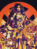 New Mutants Forever No.1 Cover: Selene, Wolfsbane, Magik, Magma ,Cannonball, Moonstar and Others Plastic Sign by Al Rio