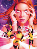 X-Men Origins: Jean Grey No.1 Cover: Grey, Jean, Marvel Girl, Cyclops and Beast Plastic Sign by Mike Mayhew