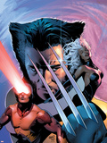 X-Men: The End No.1 Cover: Wolverine, Cyclops and Storm Plastic Sign by Greg Land