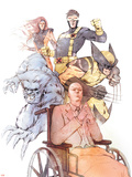 X-Men: Odd Men Out Cover: Xavier, Charles, Beast, Cyclops, Wolverine, Grey and Jean Plastic Sign by Eric Nguyen