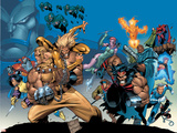 X-Men: The Complete Age Of Apocalypse Epics Cover: Sabretooth Wandtattoo von Joe Madureira