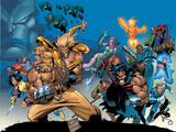 X-Men: The Complete Age Of Apocalypse Epics Cover: Sabretooth Wandtattoo von Joe Madureira