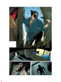 Wolverine No.10: Panels with Logan Smashing In Wall Decal by Renato Guedes